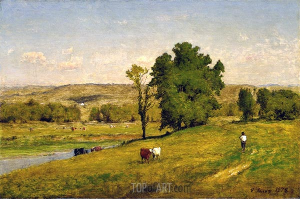 Landschaft, 1878 | George Inness | Gemälde Reproduktion