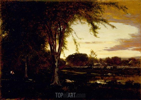 Landschaft, 1866 | George Inness | Gemälde Reproduktion
