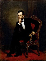 Abraham Lincoln, 1869 by George Healy | Painting Reproduction
