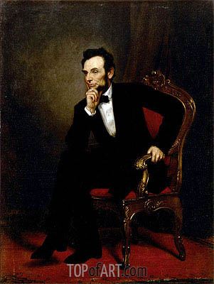 Abraham Lincoln, 1869 | George Healy| Painting Reproduction