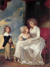 The Countess of Warwick and Her Children | George Romney | Painting Reproduction