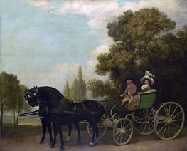 A Gentleman driving a Lady in a Phaeton, 1787 by George Stubbs | Painting Reproduction