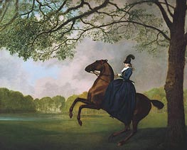 Laetitia, Lady Lade, 1793 by George Stubbs | Painting Reproduction