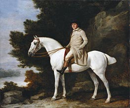 A Gentleman on a Grey Horse, 1781 by George Stubbs | Painting Reproduction