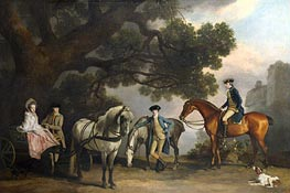 The Milbanke and Melbourne Families | George Stubbs | Painting Reproduction