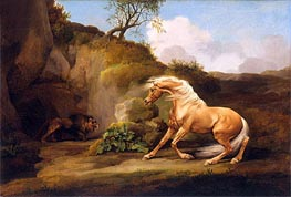 A Horse Frightened by a Lion | George Stubbs | outdated