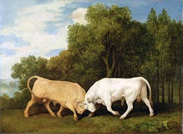 Bulls Fighting | George Stubbs | outdated