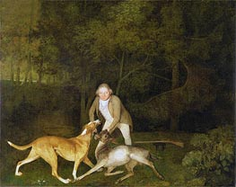 Freeman, the Earl of Clarendon's Gamekeeper with a Dying Doe and Hound, 1800 by George Stubbs | Painting Reproduction