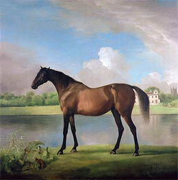 Lord Bolingbroke's Brood Mare in the Grounds of Lydiard Park, Wiltshire, c.1764/66 by George Stubbs | Painting Reproduction