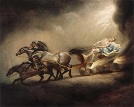 The Fall of Phaeton, undated by George Stubbs | Painting Reproduction