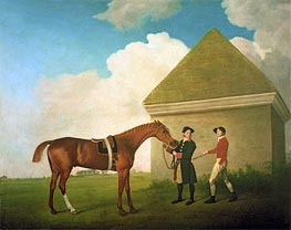 Eclipse at Newmarket with a Groom and a Jockey, 1770 by George Stubbs | Painting Reproduction