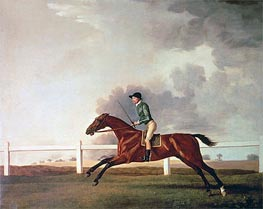 Bay Malton with John Singleton Up, c.1767 by George Stubbs | Painting Reproduction