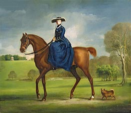 The Countess of Coningsby in the Costume of the Charlton Hunt, c.1760/61 by George Stubbs | Painting Reproduction