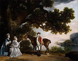 Captain Samuel Sharpe Pocklington with His Wife, Pleasance, and possibly His Sister, Frances, 1769 von George Stubbs | Gemälde-Reproduktion