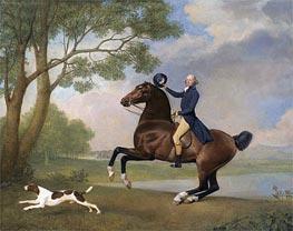 Porträt von Baron de Robeck Reiten, 1791 von George Stubbs | Gemälde-Reproduktion