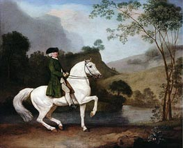 Sir Sidney Meadows, 1778 von George Stubbs | Gemälde-Reproduktion