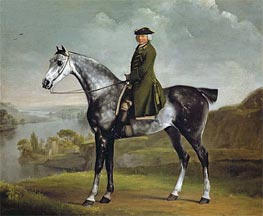 Joseph Smyth Esquire, Lieutenant of Whittlebury Forest, Northamptonshire, on a Dapple Grey Horse, c.1762/64 by George Stubbs | Painting Reproduction
