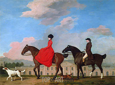 John and Sophia Musters Out Riding at Colwick Hall, 1777 | George Stubbs | Gemälde Reproduktion