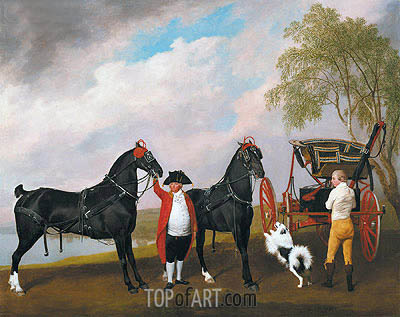 The Prince of Wales's Phaeton, 1793 | George Stubbs | Painting Reproduction