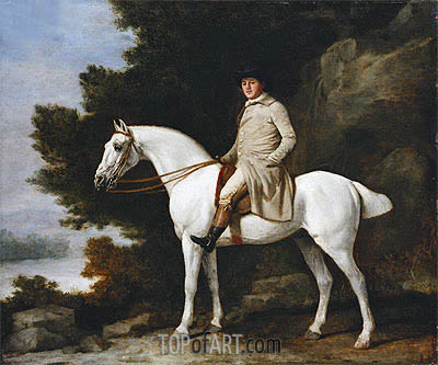 A Gentleman on a Grey Horse, 1781 | George Stubbs| Painting Reproduction