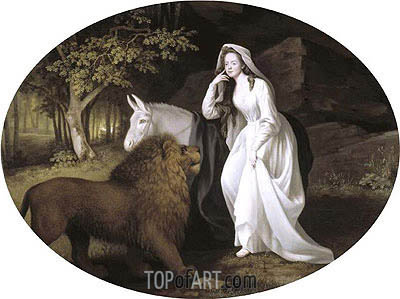 Isabella Salstonstall as Spenser's 'Faerie Queene', 1782 | George Stubbs| Painting Reproduction