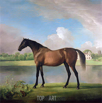 Lord Bolingbroke's Brood Mare in the Grounds of Lydiard Park, Wiltshire, c.1764/66 | George Stubbs| Gemälde Reproduktion