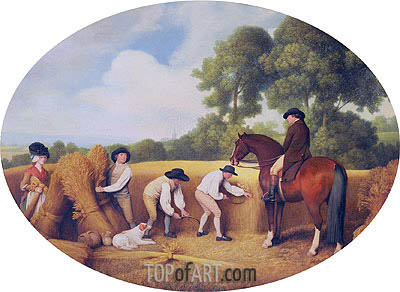 Reapers, 1795 | George Stubbs| Painting Reproduction