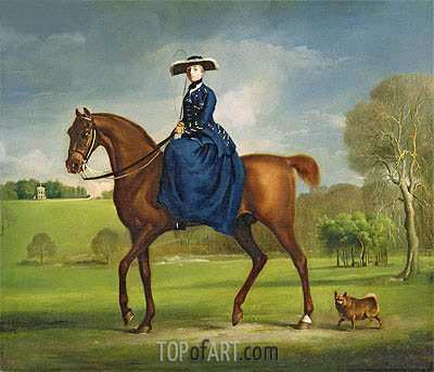 The Countess of Coningsby in the Costume of the Charlton Hunt, c.1760/61 | George Stubbs| Painting Reproduction