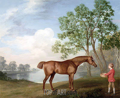 George Stubbs | Pumpkin with a Stable-Lad, 1774