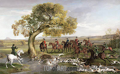 The Grosvenor Hunt, 1762 | George Stubbs| Painting Reproduction
