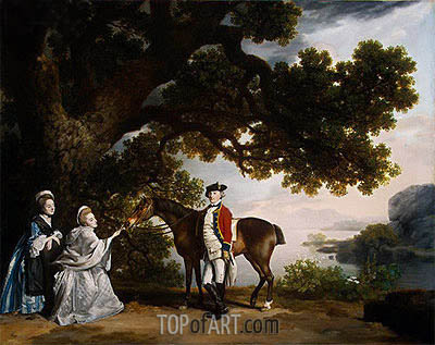 Captain Samuel Sharpe Pocklington with His Wife, Pleasance, and possibly His Sister, Frances, 1769 | George Stubbs| Painting Reproduction