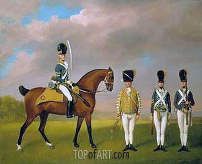 George Stubbs | Soldiers of the 10th Light Dragoons, 1793