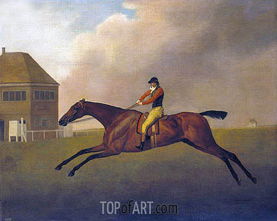 Baronet with Samuel Chifney up, 1791 | George Stubbs| Painting Reproduction