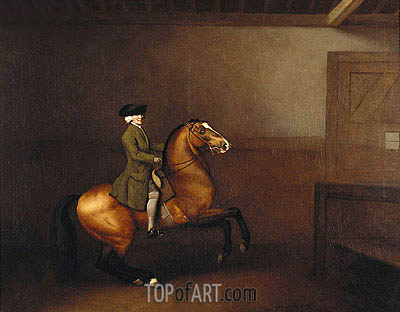 Portrait of a Gentleman, 1791 | George Stubbs| Painting Reproduction