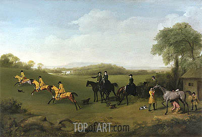 Racehorses Exercising, c.1859/60 | George Stubbs | Painting Reproduction