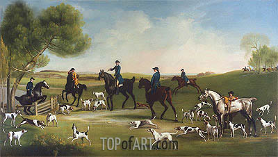 The Duke of Richmond with the Charlton Hunt, c.1859/60 | George Stubbs| Painting Reproduction