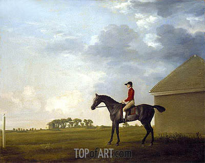 George Stubbs | Gimcrack, with John Pratt up, on Newmarket Heath, c.1765