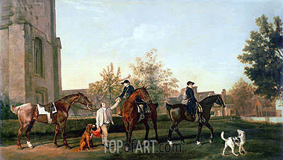 George Stubbs | Lord Torrington's Hunt Servants Setting Out from Southill, Bedfordshire, 1767