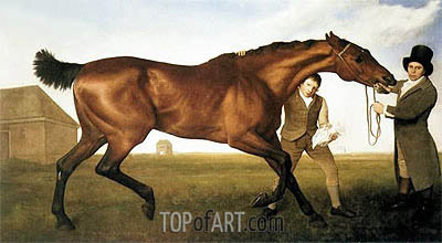 Hambletonian, Rubbing Down, 1800 | George Stubbs | Painting Reproduction