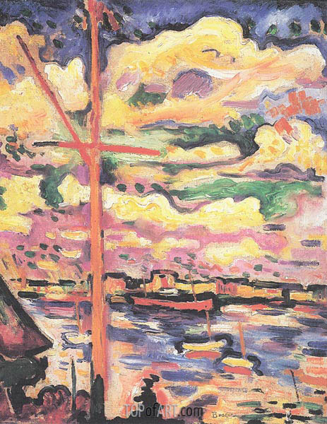 The Mast - Pont of Antwerp, 1906 | Georges Braque | Painting Reproduction