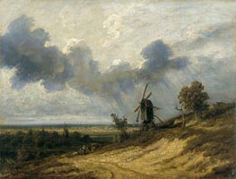 Landscape with Mill, undated by Georges Michel | Painting Reproduction