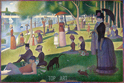 A Sunday on La Grande Jatte, c.1884/86 | Georges Seurat| Painting Reproduction