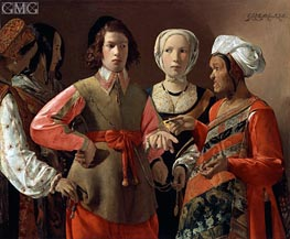 The Fortune Teller, c.1635 by Georges de La Tour | Painting Reproduction