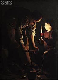 St. Joseph, the Carpenter, c.1640 by Georges de La Tour | Painting Reproduction