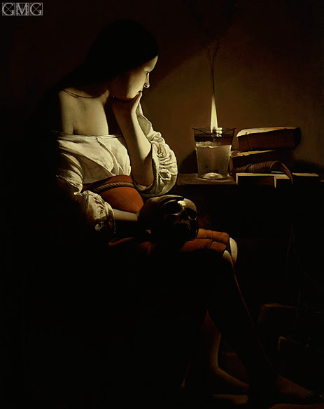 Magdalen with the Smoking Flame, c.1640 | Georges de La Tour | Painting Reproduction