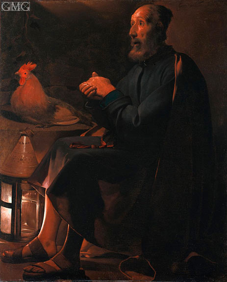 St Peter Repentant, 1645 | Georges de La Tour | Painting Reproduction
