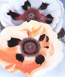 Poppies, 1950 by O'Keeffe | Painting Reproduction