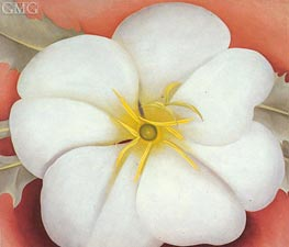 White Flower on Red Earth I, 1943 von O'Keeffe | Gemälde-Reproduktion