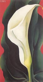 Single Lily with Red | O'Keeffe | Painting Reproduction