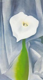 Calla Lilly on Grey, 1928 von O'Keeffe | Gemälde-Reproduktion